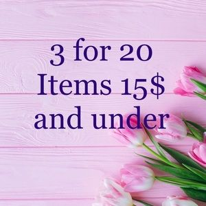 ‼️3 for 20$‼️ all items 15$ and under